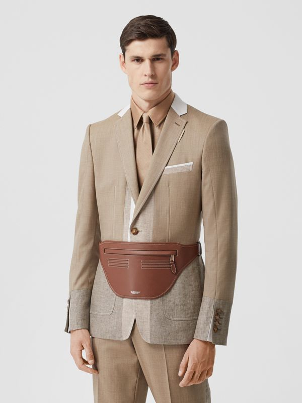 Topstitched Leather Brummell Bum Bag in Tan | Burberry - cell image 3