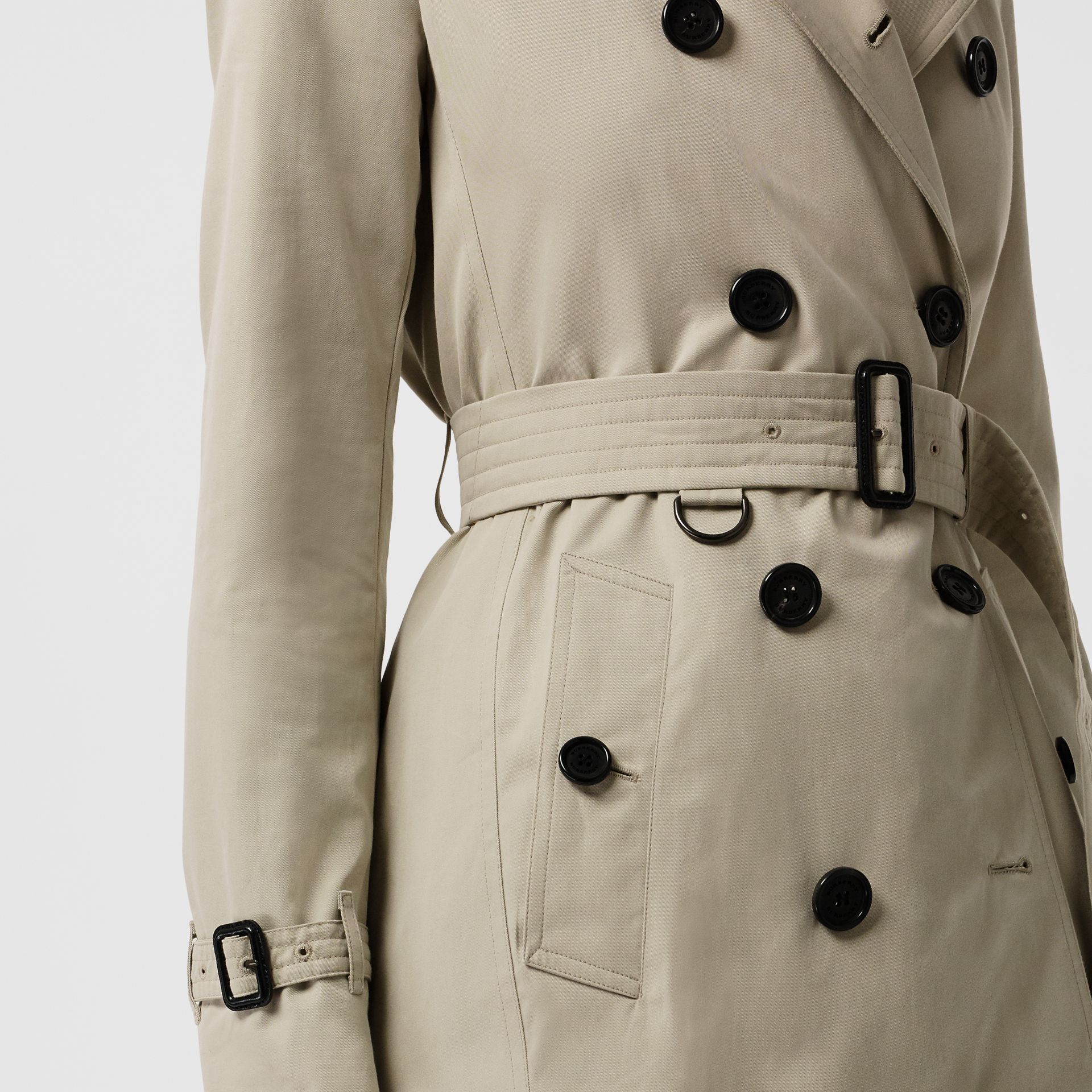 Kensington Fit Cotton Gabardine Trench Coat in Stone - Women | Burberry Hong Kong - gallery image 1