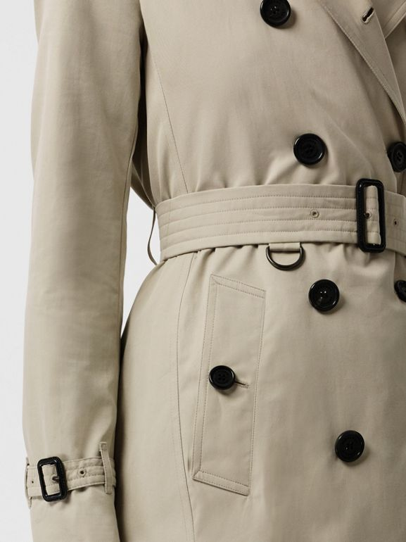 Kensington Fit Cotton Gabardine Trench Coat in Stone - Women | Burberry - cell image 1