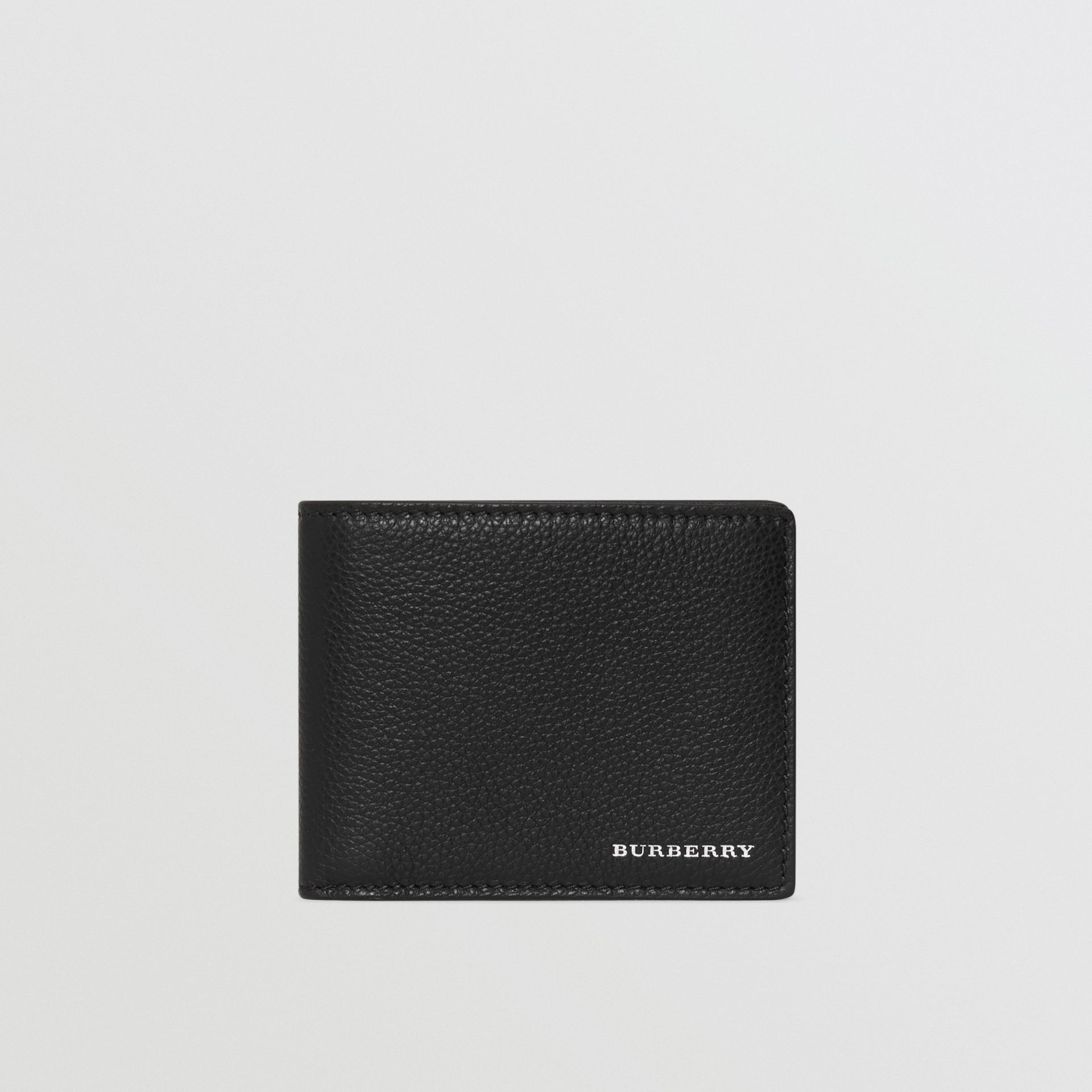 Grainy Leather Bifold Wallet in Black - Men | Burberry - gallery image 2