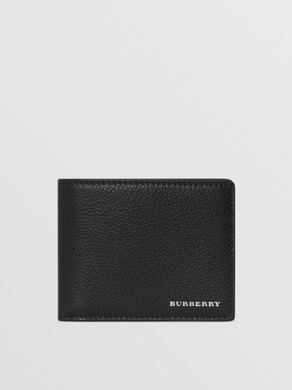 Grainy Leather Bifold Wallet in Black - Men | Burberry Hong Kong - cell image 2