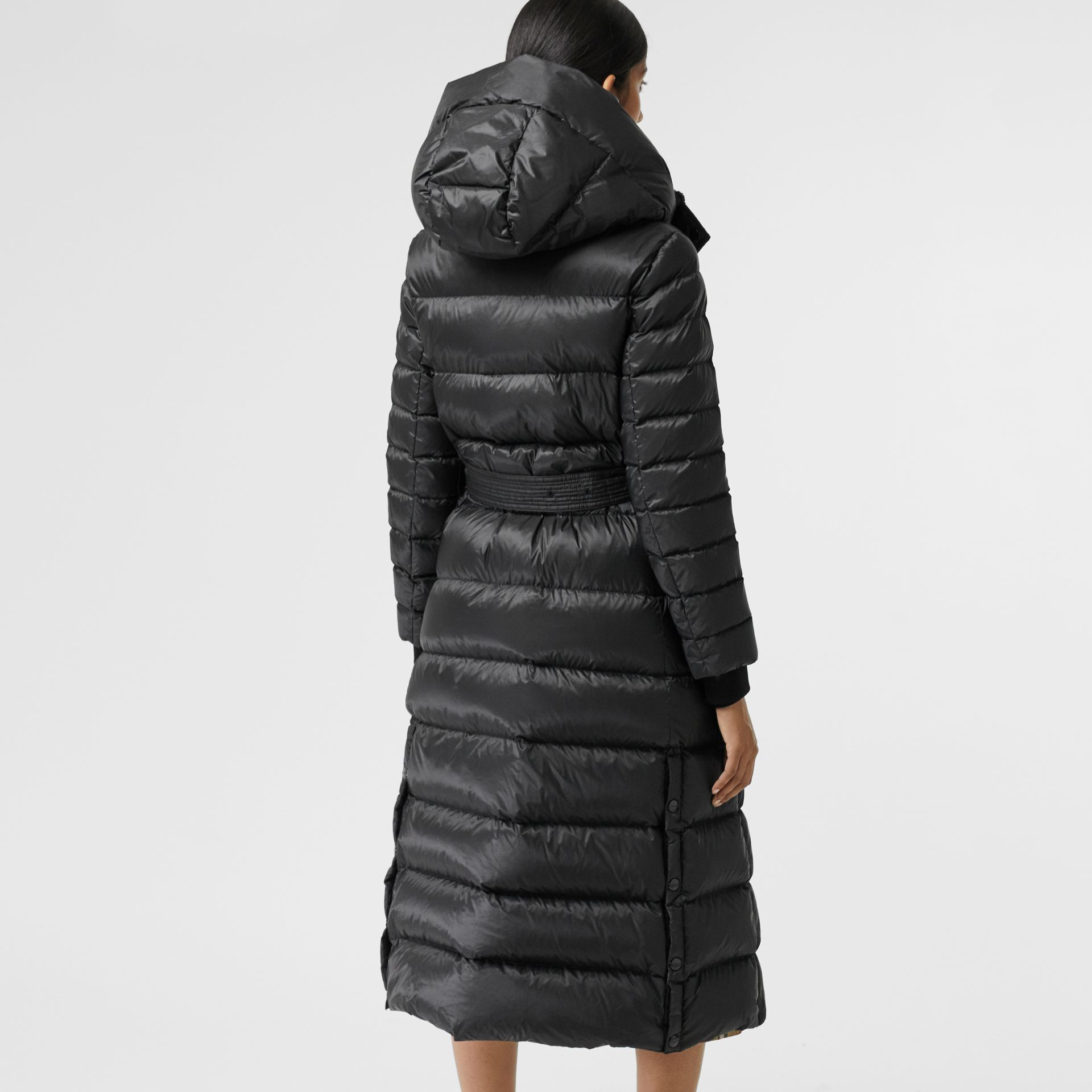 Down-filled Hooded Puffer Coat in Black - Women | Burberry United Kingdom - gallery image 2