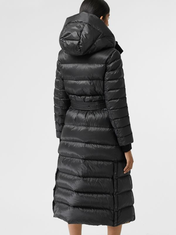 Down-filled Hooded Puffer Coat in Black - Women | Burberry - cell image 2