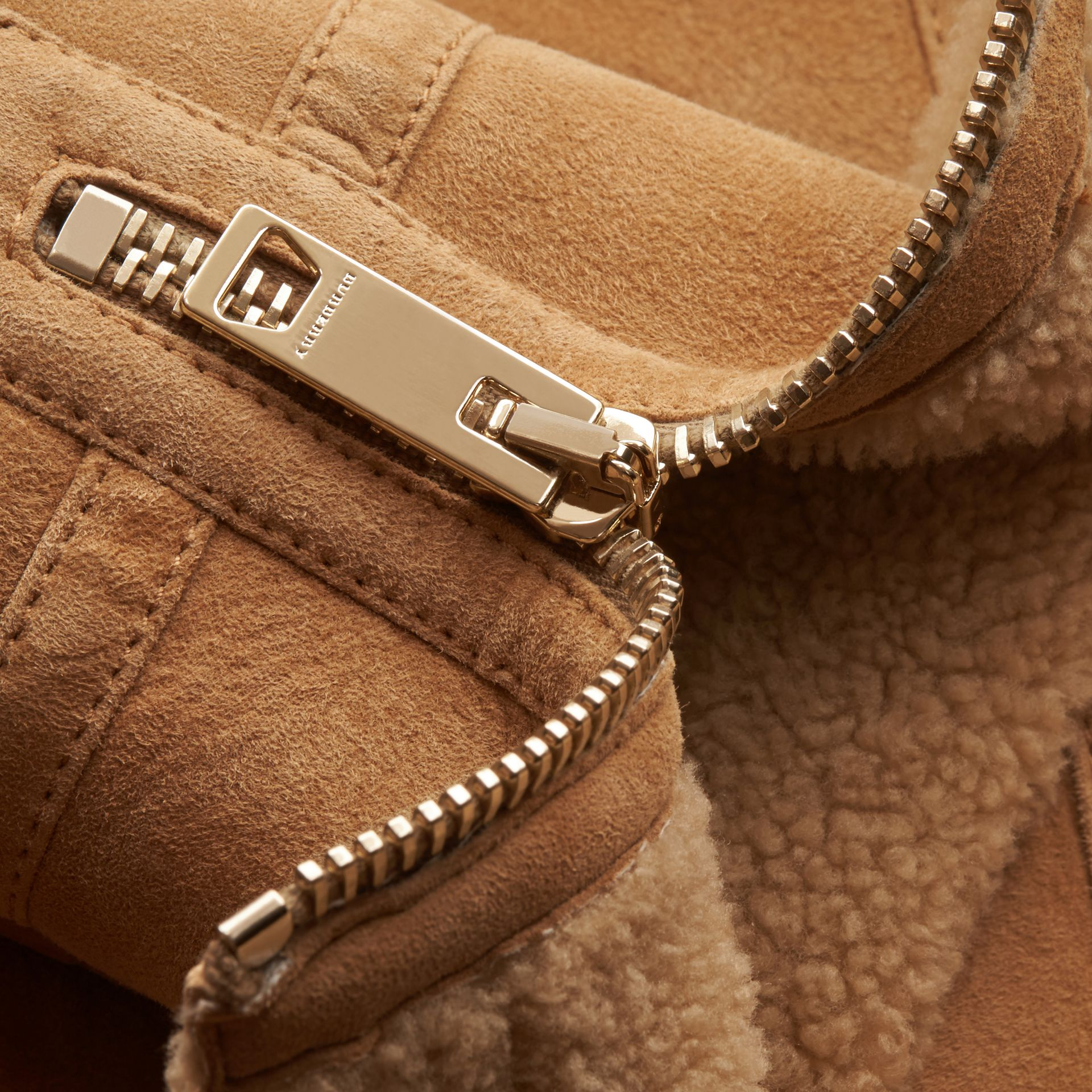 Honey Shearling Aviator Jacket - gallery image 2