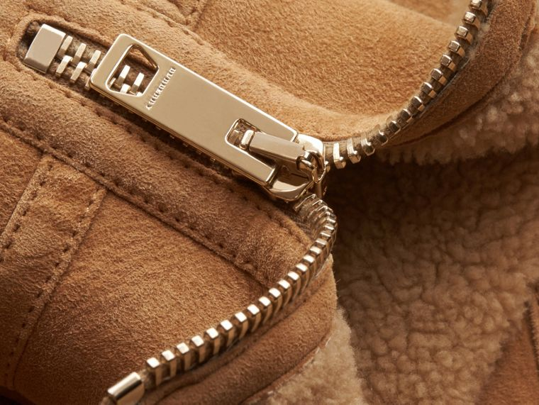 Miele Giacca da aviatore in shearling - cell image 1