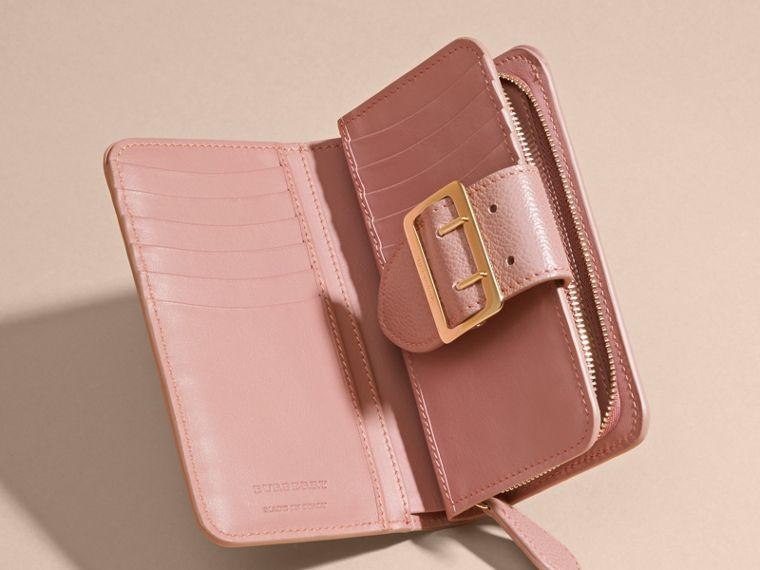 Dusty pink Buckle Detail Grainy Leather Wallet Dusty Pink - cell image 4
