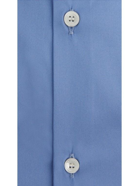 Camicia sfiancata in misto cotone stretch (Blu Medio) - Uomo | Burberry - cell image 3