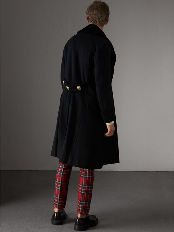Detachable Mink Collar Cashmere Wool Greatcoat in Black - Men | Burberry - cell image 2
