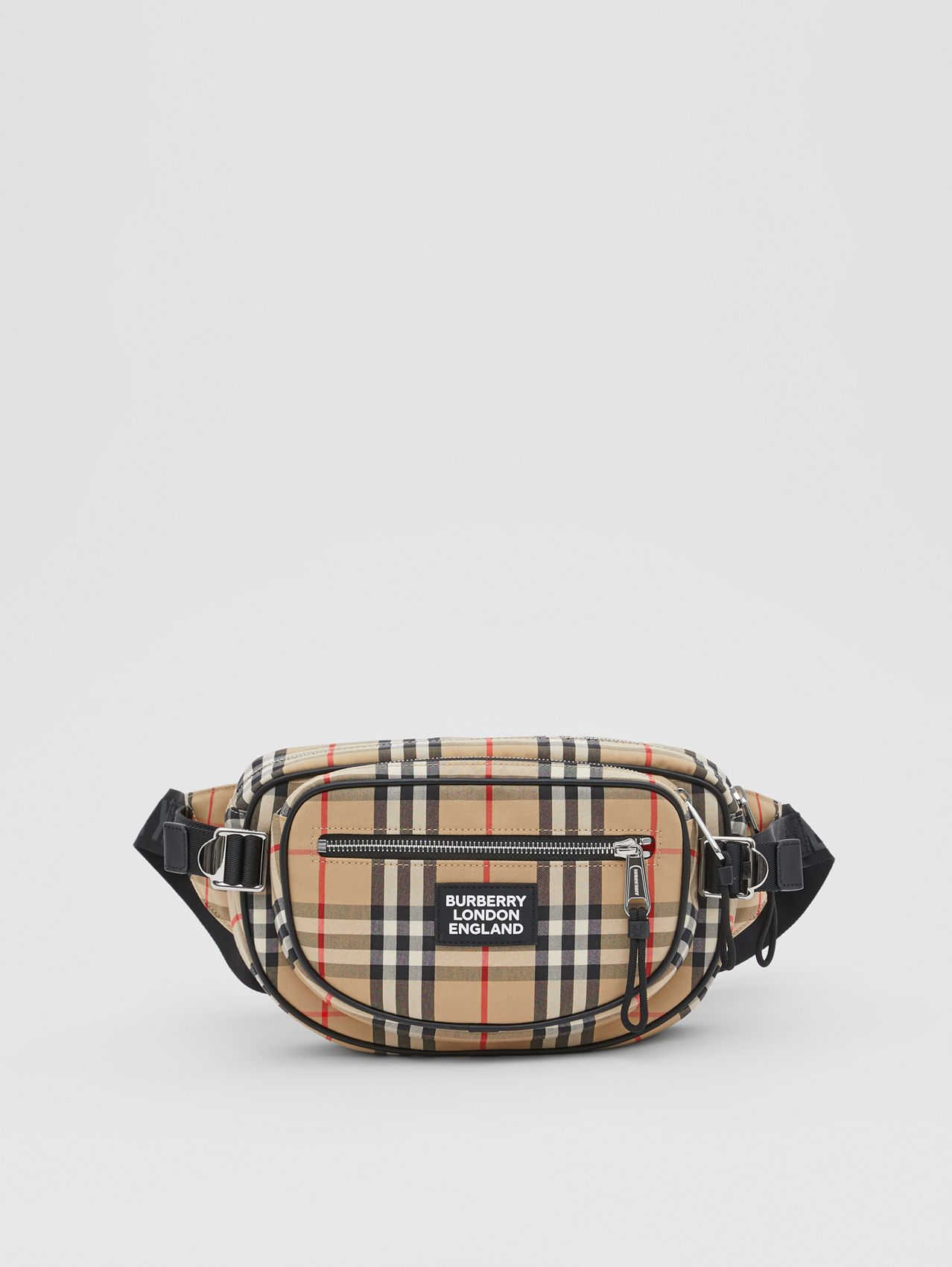 Medium Vintage Check Cotton Cannon Bum Bag (Archive Beige)