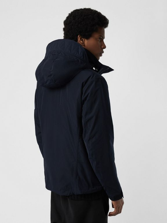 Packaway Hood Shape-memory Taffeta Jacket in Ink - Men | Burberry United Kingdom - cell image 1