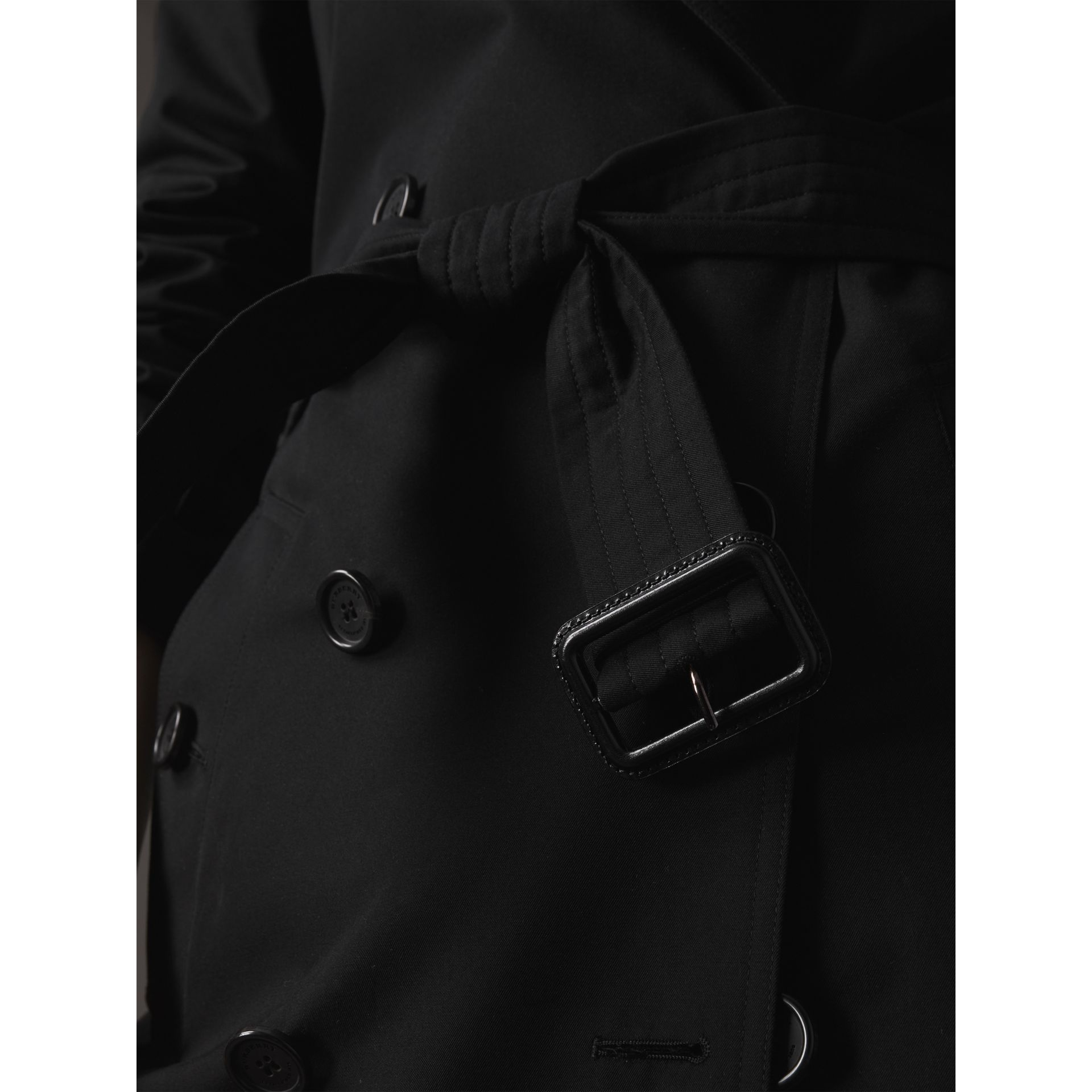 The Kensington – Extra-long Trench Coat in Black - Women | Burberry United States - gallery image 4