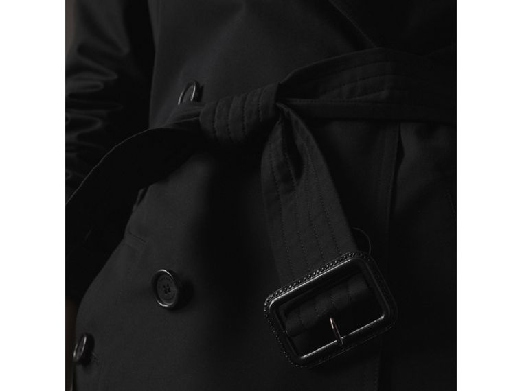 The Kensington - Trench coat Heritage extra lungo (Nero) - Donna | Burberry - cell image 4