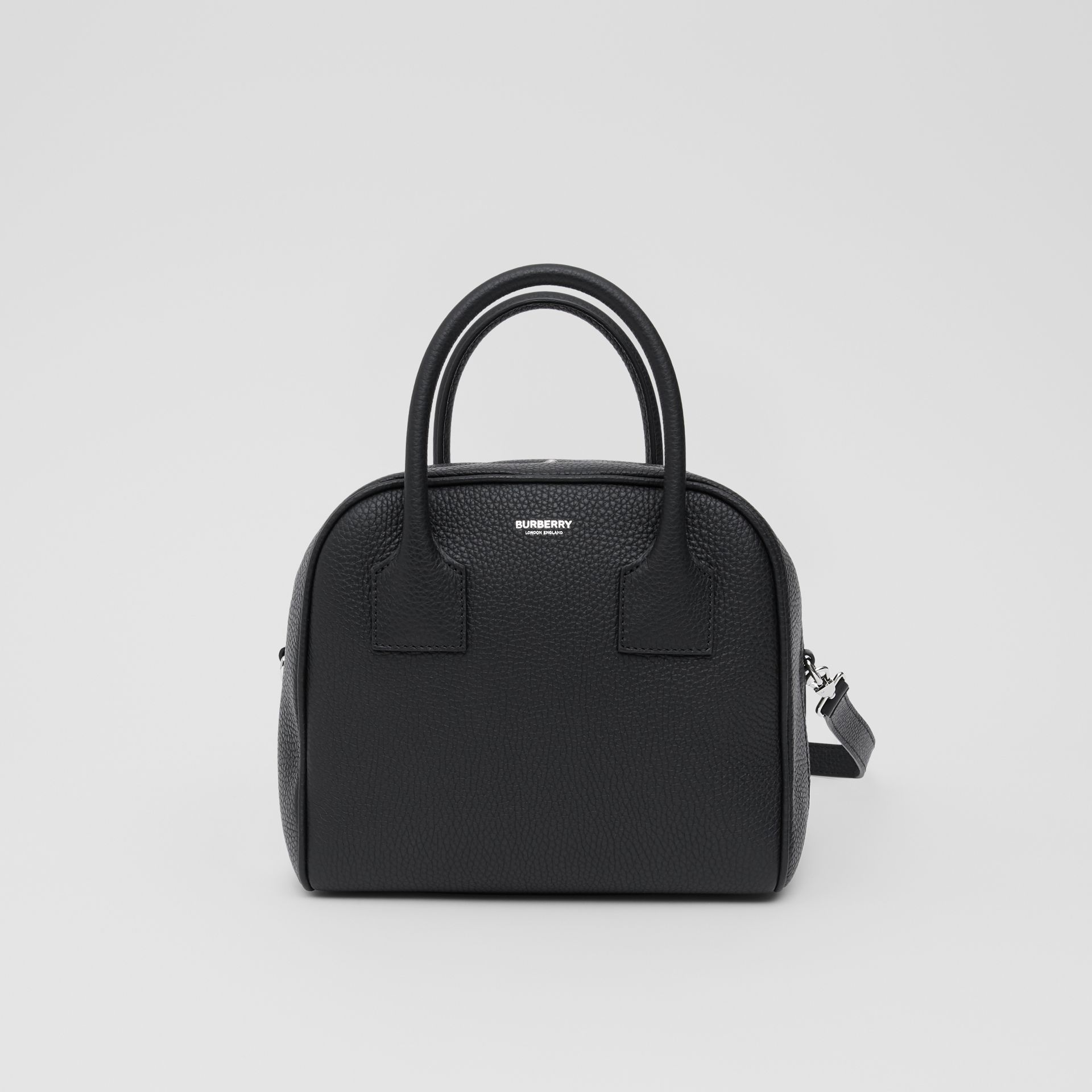 Small Leather Cube Bag in Black - Women | Burberry - gallery image 0