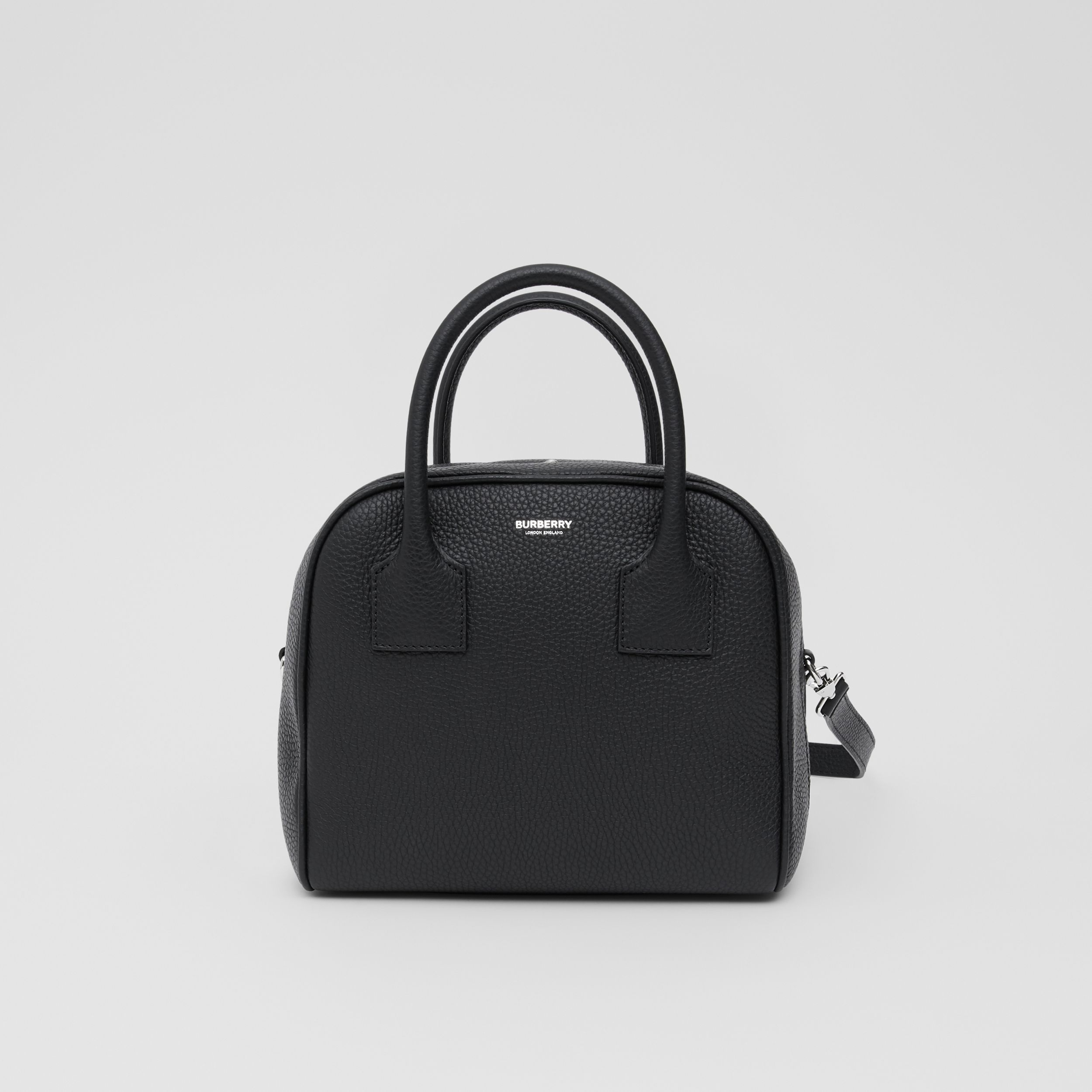Small Leather Cube Bag in Black - Women | Burberry Australia - 1