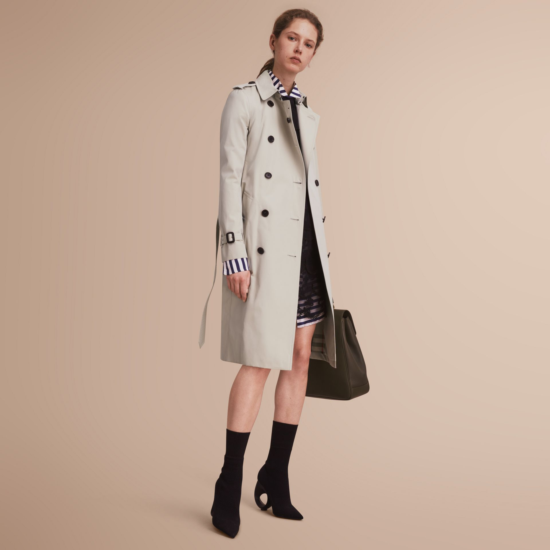 The Kensington – Extra-long Heritage Trench Coat in Stone - gallery image 7