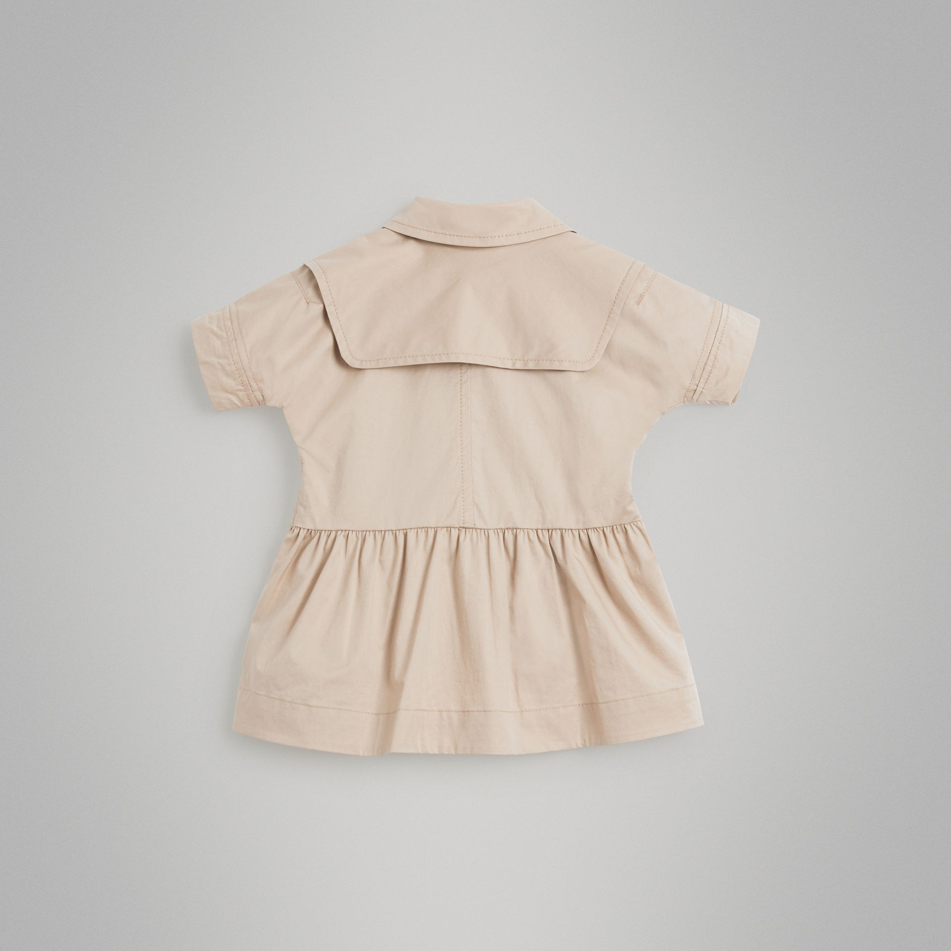 Robe trench en coton extensible (Miel) - Enfant | Burberry - photo de la galerie 3