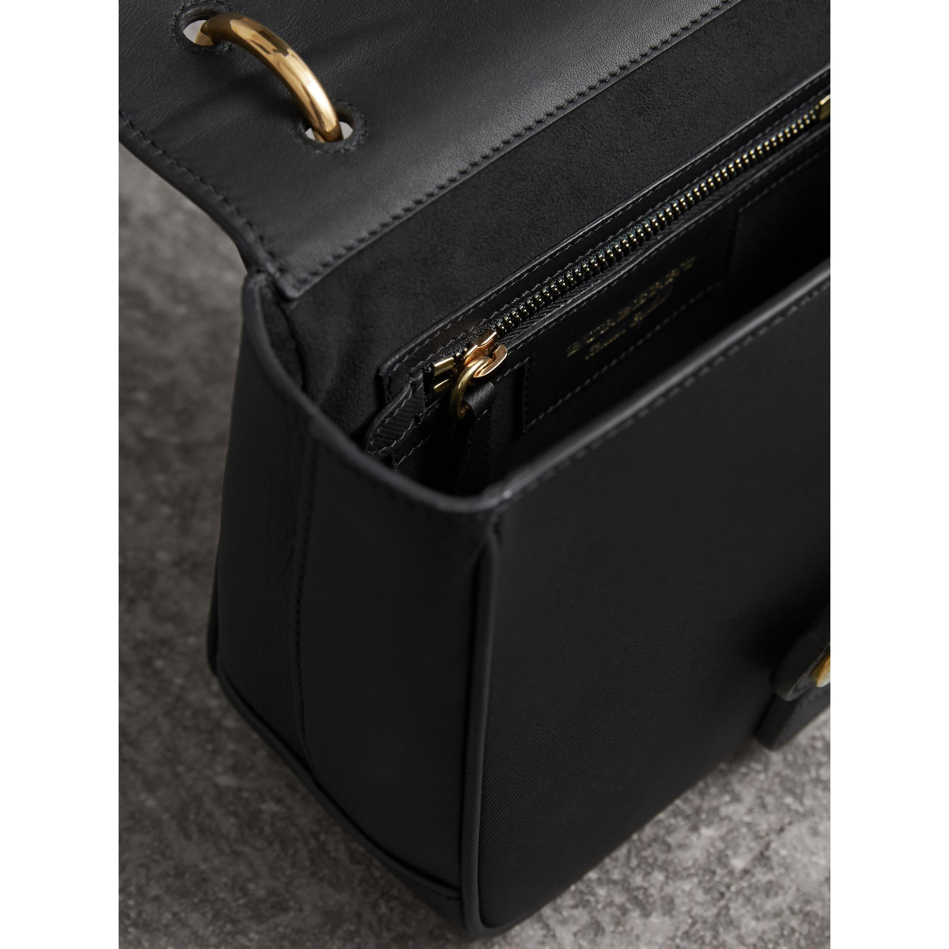 The Small DK88 Top Handle Bag in Black - Women | Burberry - gallery image 5