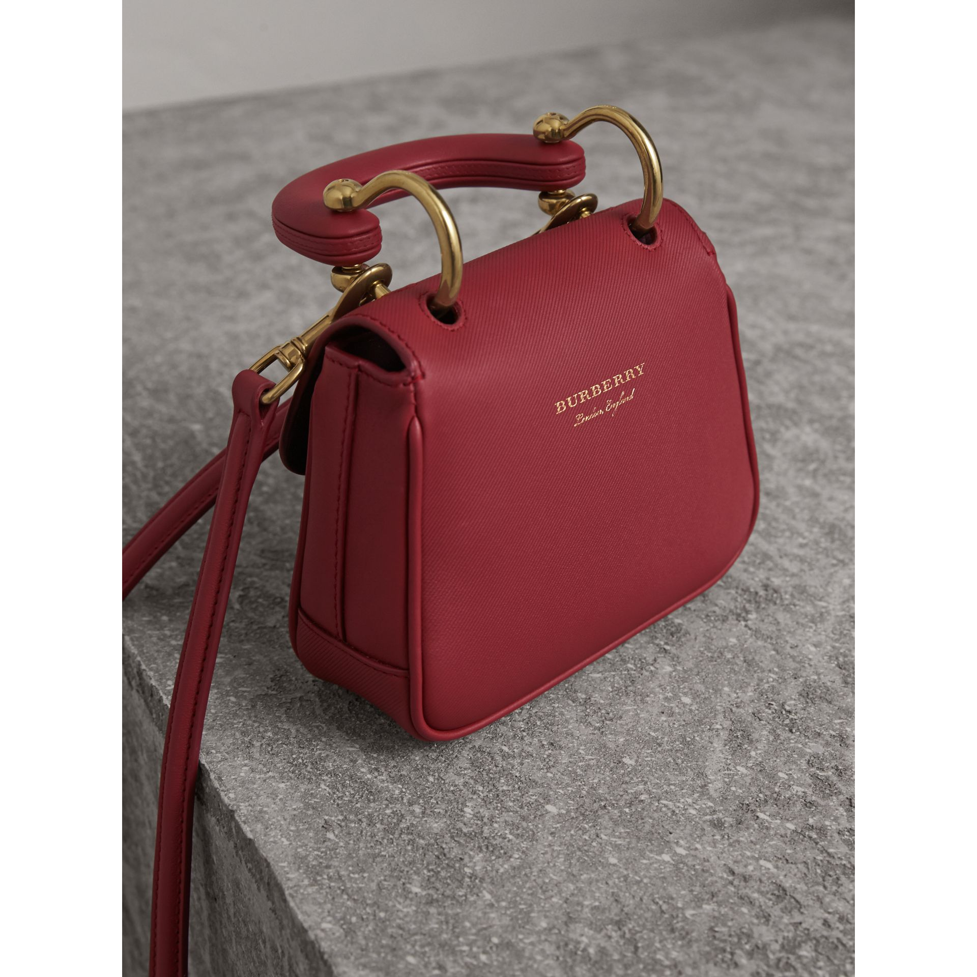 The Mini DK88 Top Handle Bag in Antique Red - Women | Burberry - gallery image 5