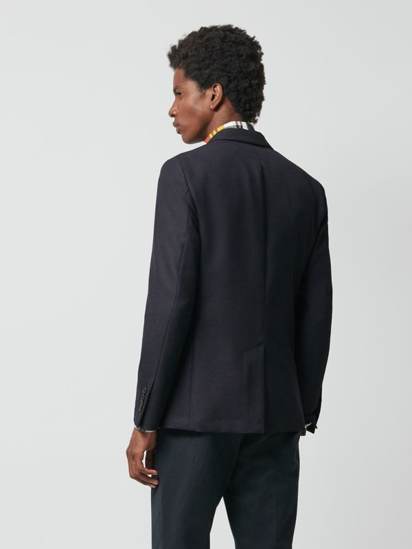 Wool Mohair Tailored Jacket in Midnight - Men | Burberry United Kingdom - cell image 3