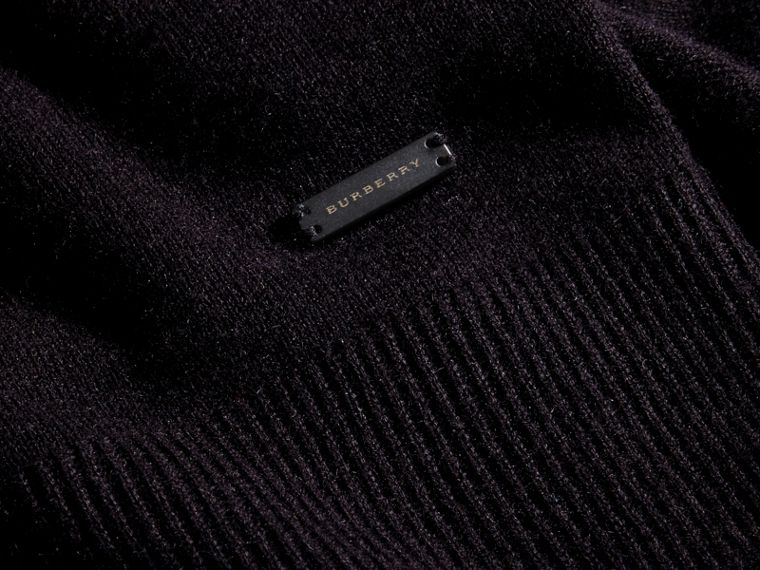 Black Cashmere V-neck Sweater Black - cell image 1
