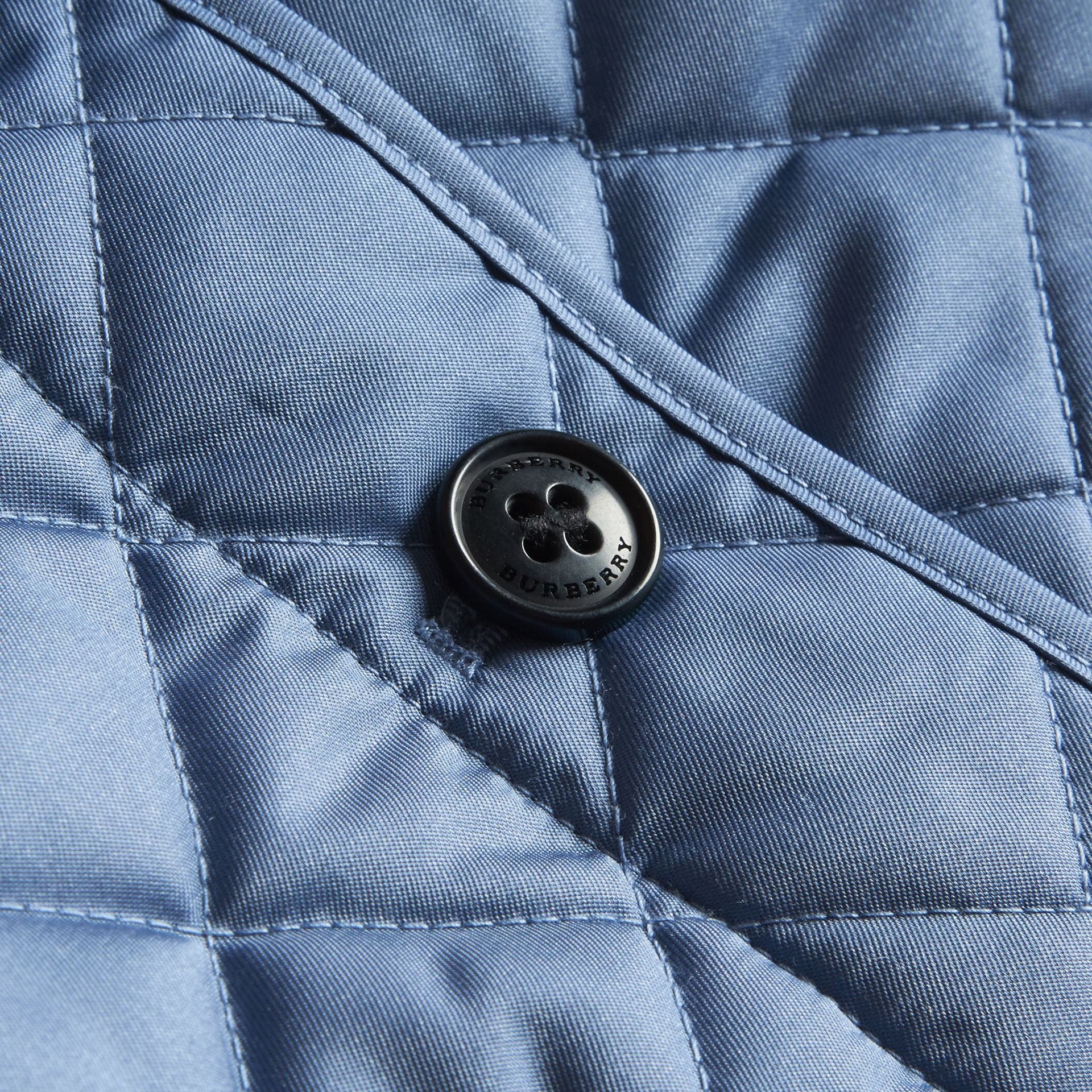 Check Detail Quilted Jacket - gallery image 2