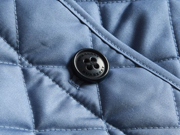 Check Detail Quilted Jacket - cell image 1