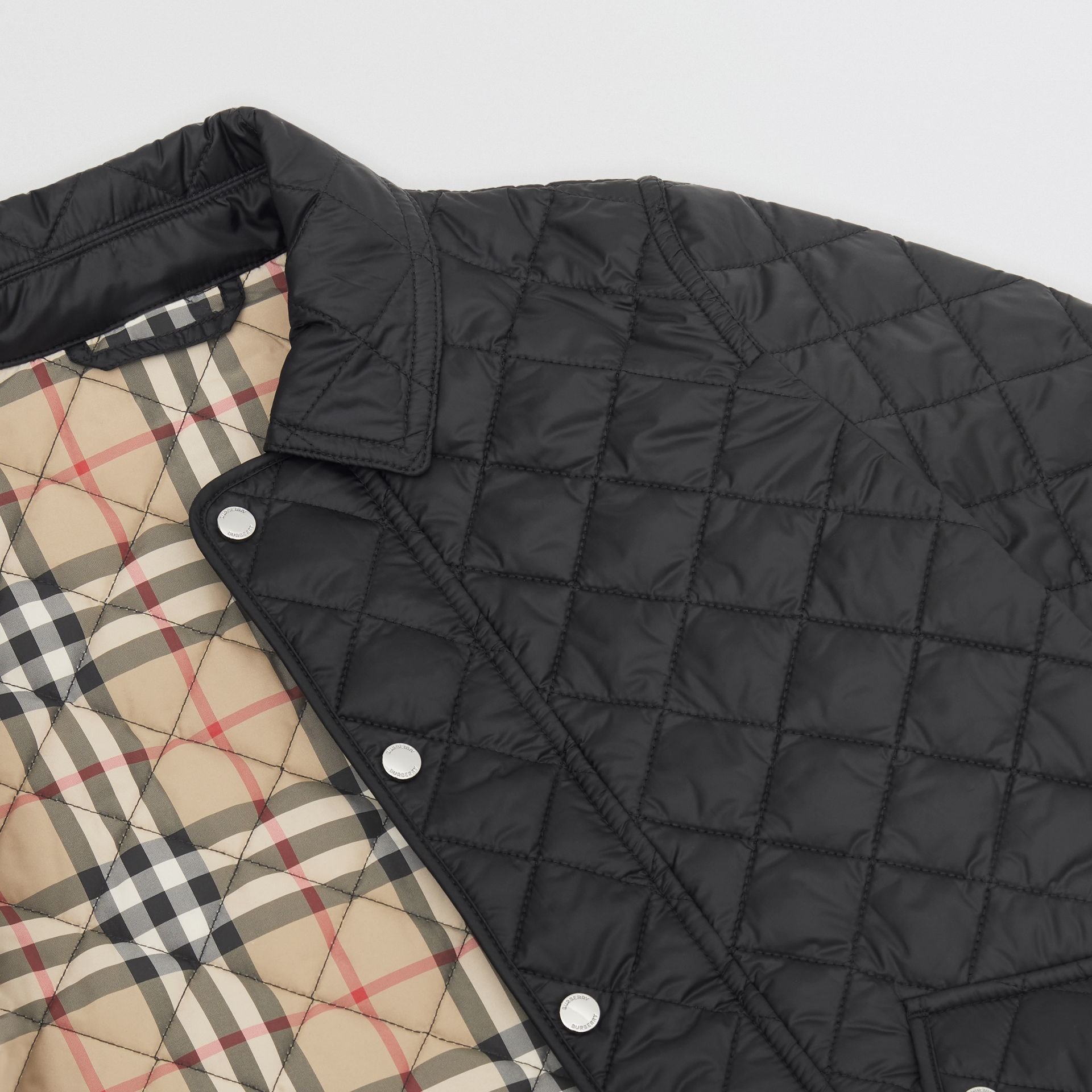 Lightweight Diamond Quilted Jacket in Black | Burberry United Kingdom - gallery image 1