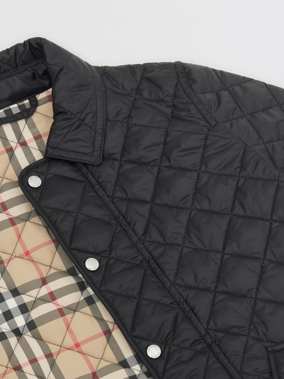 Lightweight Diamond Quilted Jacket in Black | Burberry - cell image 1