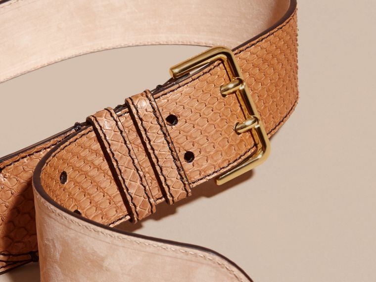 Python Belt in Camel - Women | Burberry - cell image 1