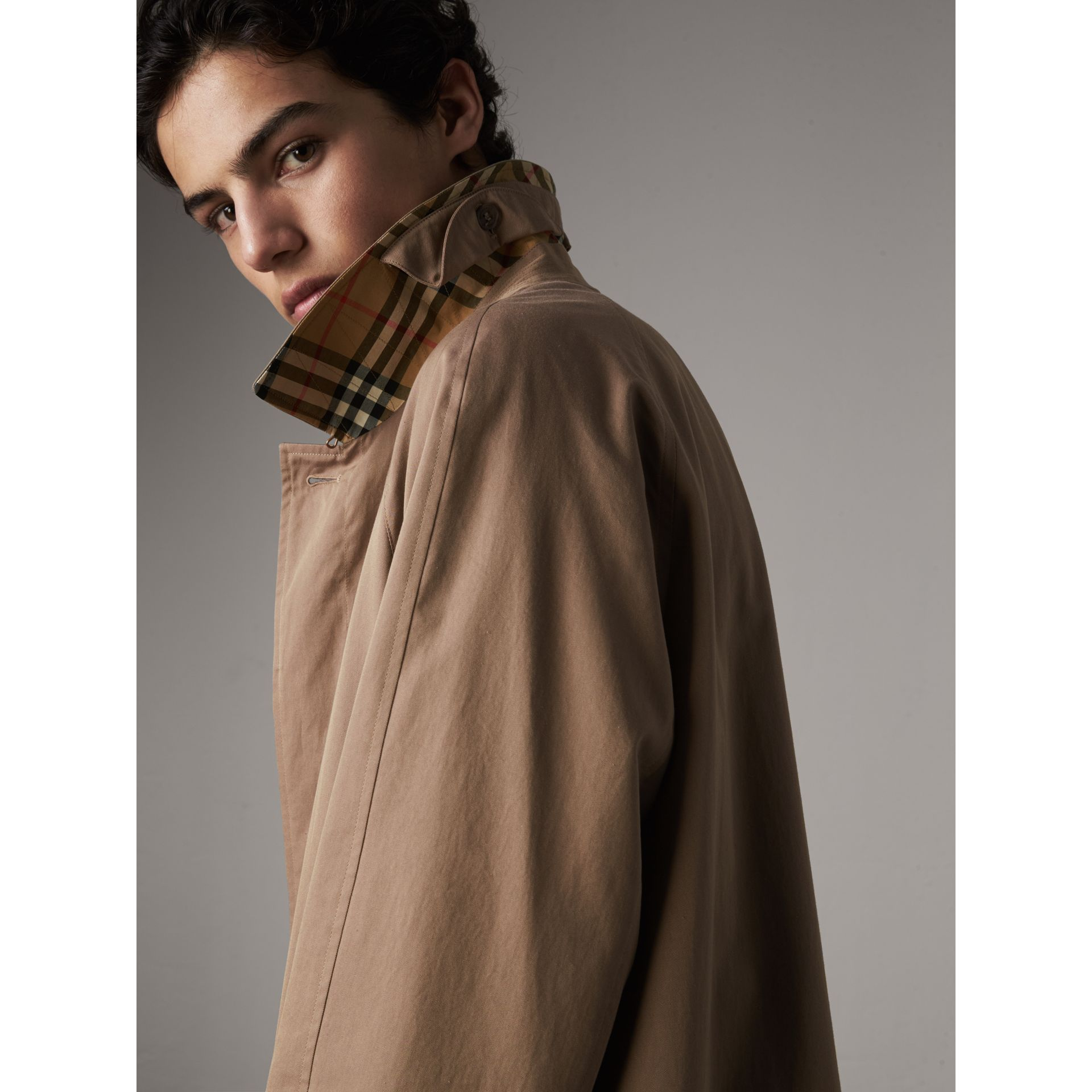 The Brighton Car Coat in Taupe Brown - Men | Burberry - gallery image 1