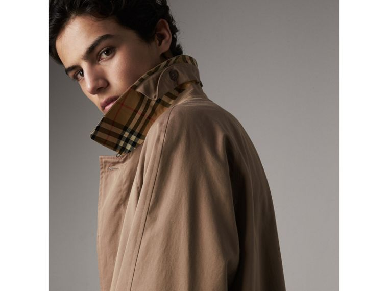 The Brighton Car Coat in Taupe Brown - Men | Burberry - cell image 1
