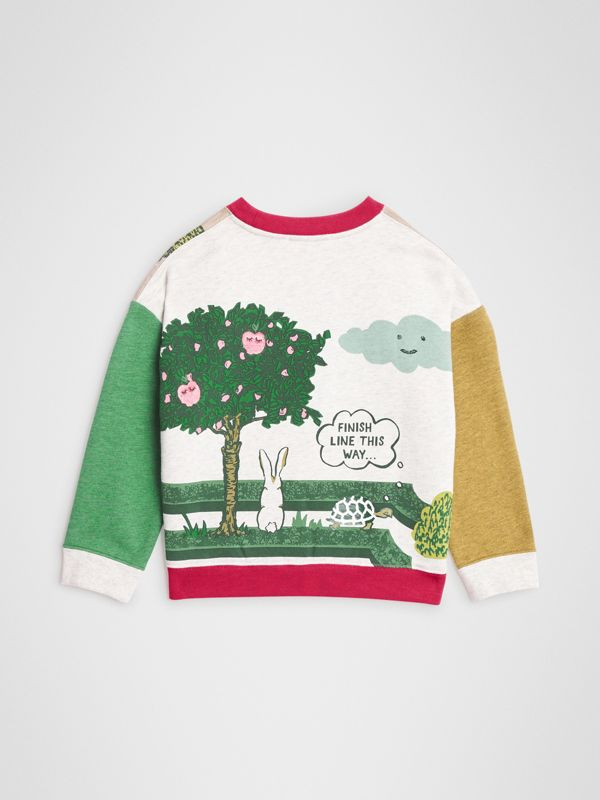 Hedge Maze Print Cotton Sweatshirt in Multicolour | Burberry Hong Kong - cell image 3