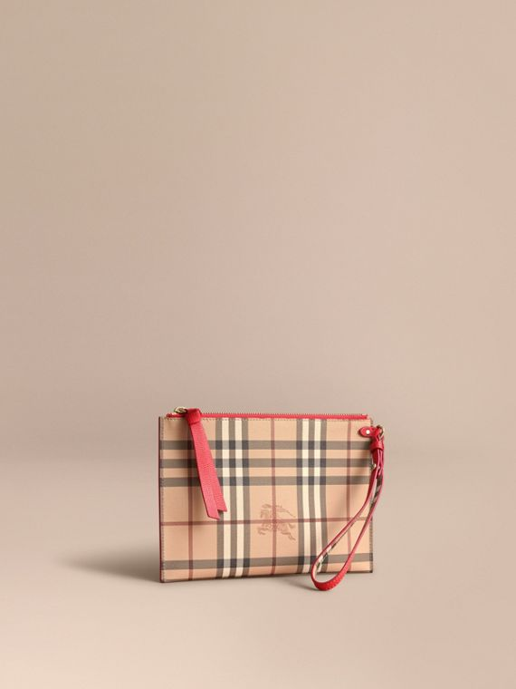 Haymarket Check and Leather Pouch