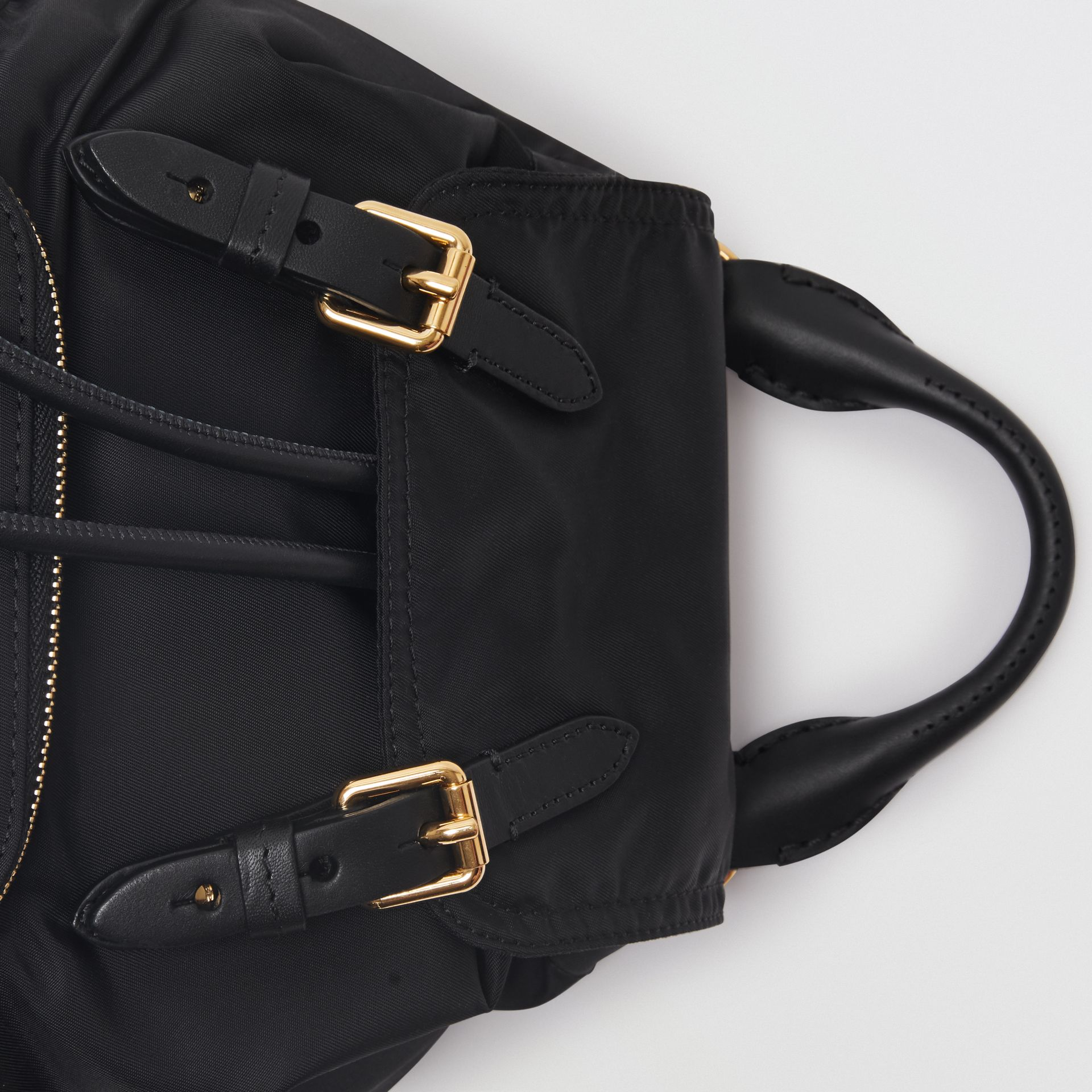 The Small Crossbody Rucksack in Nylon in Black - Women | Burberry - gallery image 1