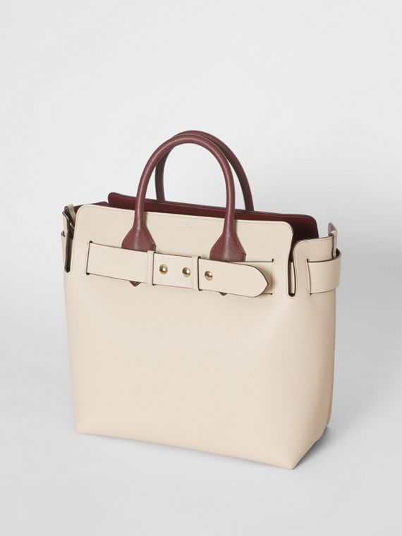 The Medium Tri-tone Leather Belt Bag in Limestone/pale Drift