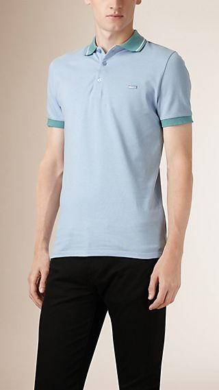 Contrast Tipping Detail Polo Shirt