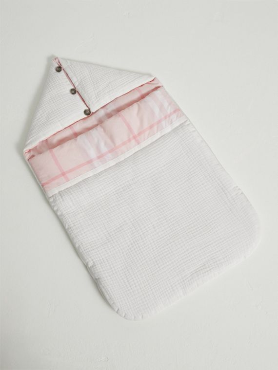 Quilted Cotton Baby Nest in Ice Pink