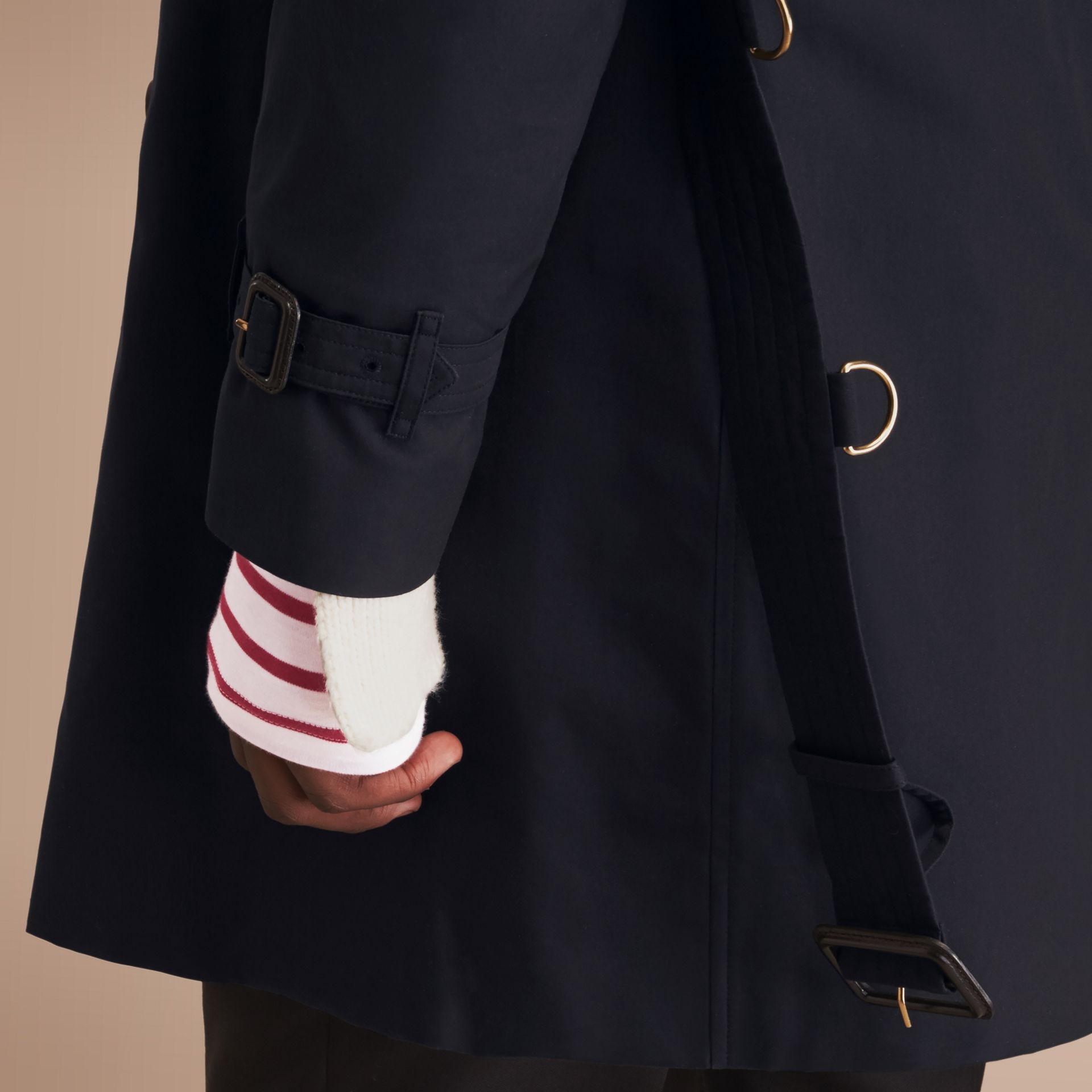 The Kensington – Long Heritage Trench Coat in Navy - gallery image 5