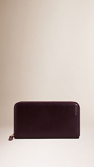 London Leather Ziparound Wallet