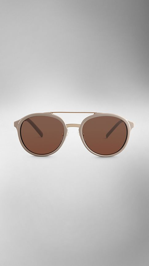 Honey Trench Collection Round Frame Sunglasses - Image 2