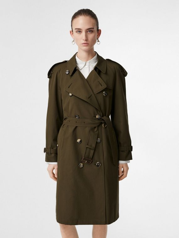2dff88c4d519a7 The Westminster Heritage Trench Coat in Dark Military Khaki