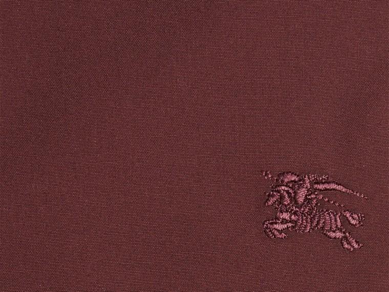Темно-красный Рубашка из поплина в клетку Темно-красный - cell image 1
