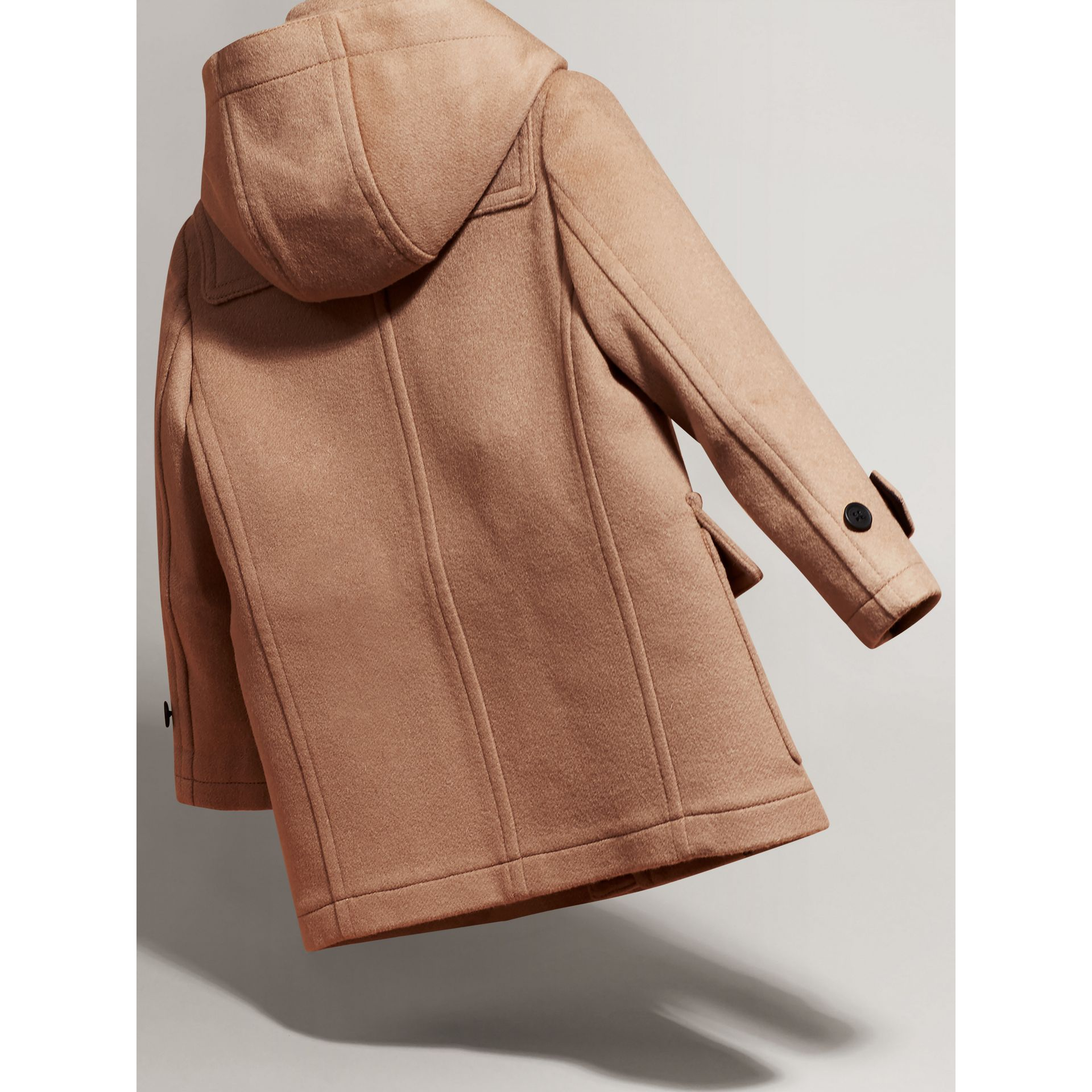 Hooded Wool Duffle Coat in New Camel | Burberry United Kingdom - gallery image 2