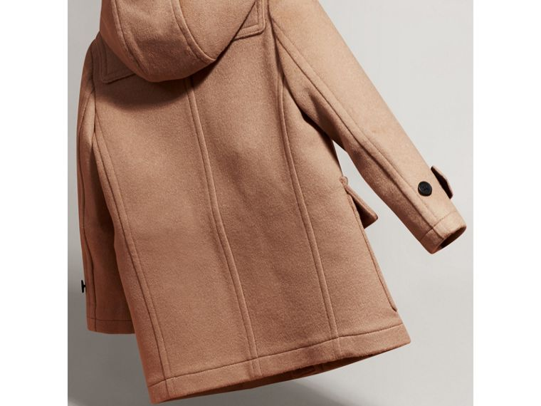 Hooded Wool Duffle Coat in New Camel | Burberry - cell image 2
