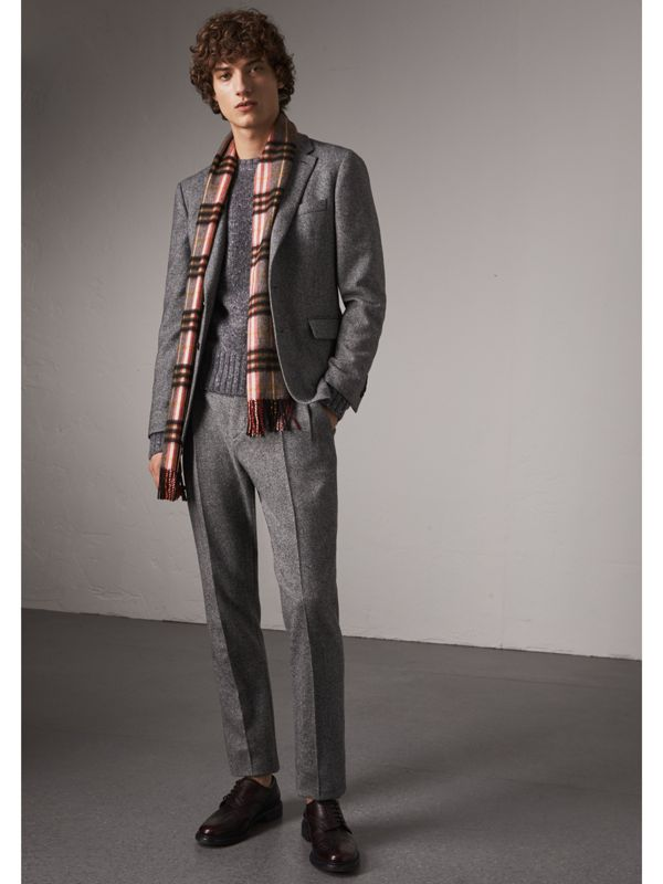 Check Cashmere Scarf in Ash Rose | Burberry - cell image 3