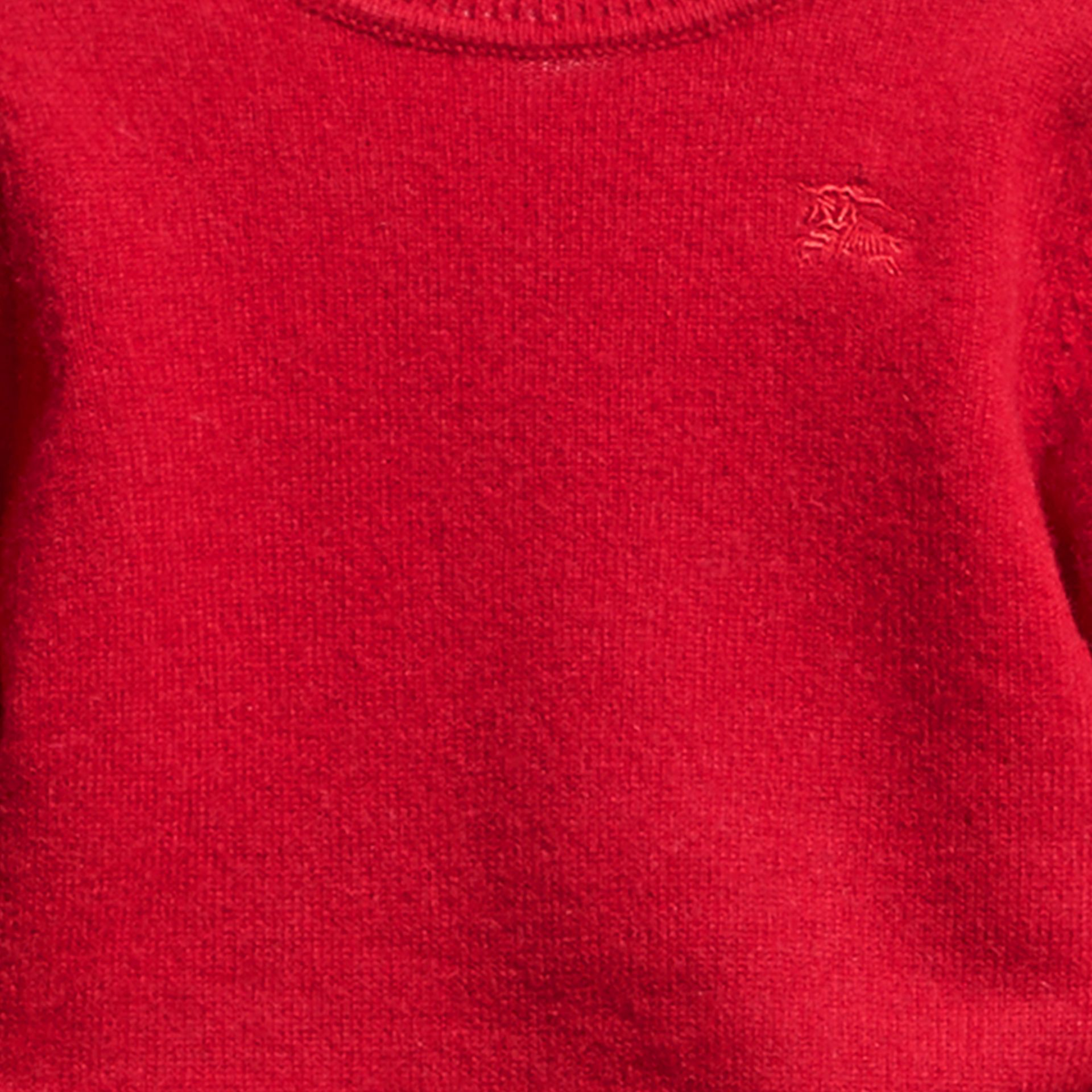 Parade red Check Detail Cashmere Sweater Parade Red - gallery image 2