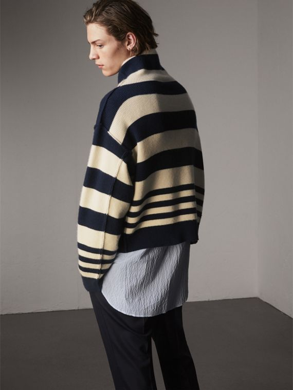 Striped Knitted Cashmere Roll-neck Sweater - Men | Burberry Australia - cell image 2