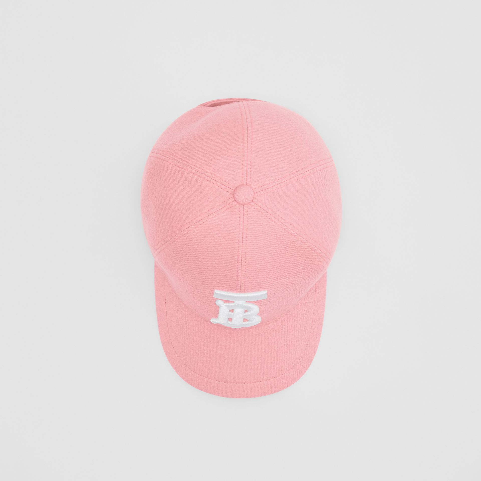 Monogram Motif Jersey Baseball Cap in Pink | Burberry United Kingdom - gallery image 4