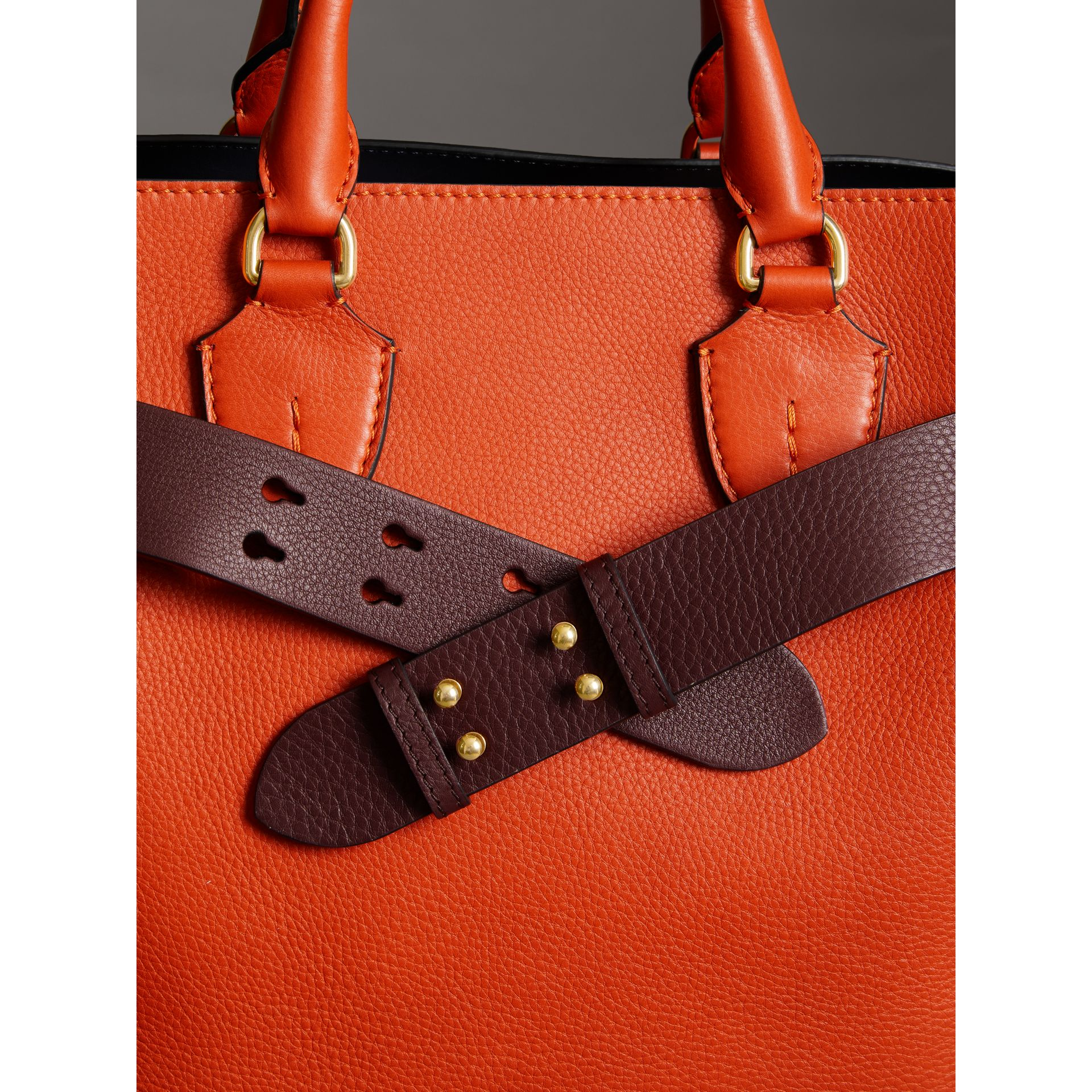 The Medium Belt Bag Grainy Leather Belt in Deep Claret - Women | Burberry - gallery image 2