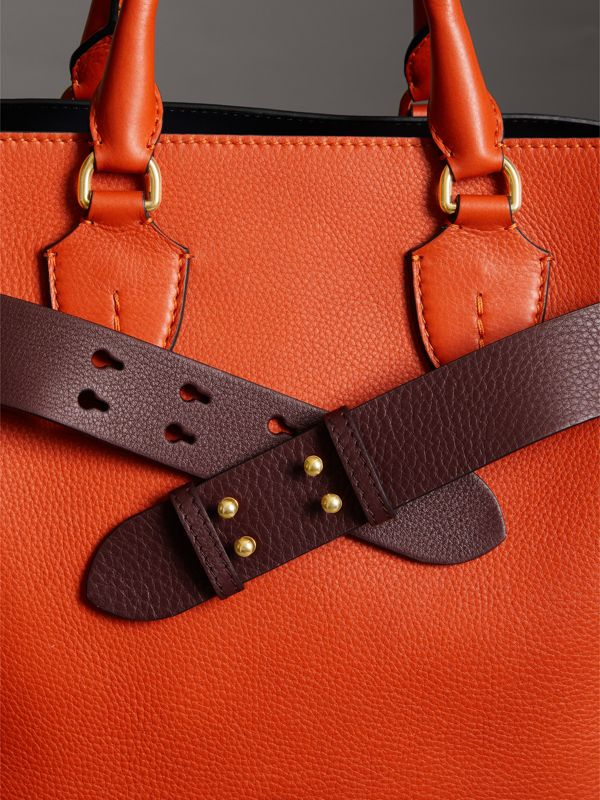 The Medium Belt Bag Grainy Leather Belt in Deep Claret - Women | Burberry Australia - cell image 2